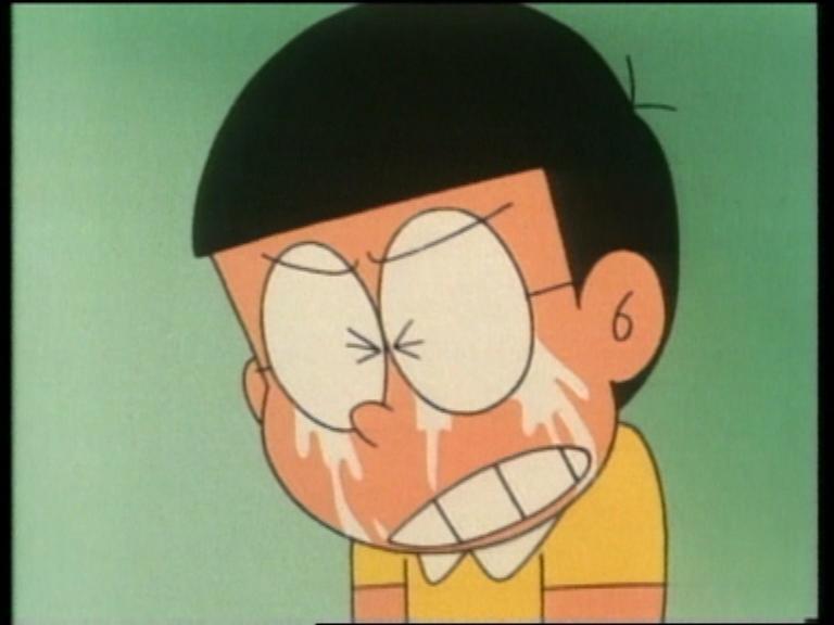 Desfer-se d'algú pesat. Nobita-llorando