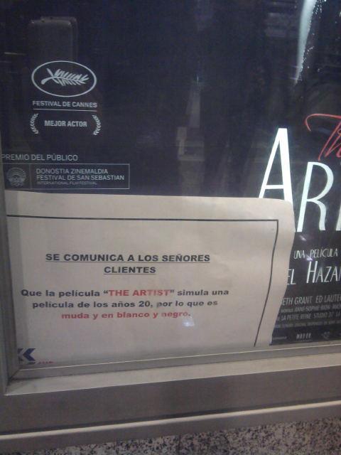 """""""The Artist"""" en 2 palabras (y el poster de la película de regalo) The-artist"""