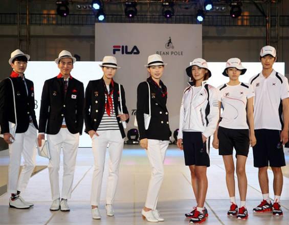 Corea del sur uniforme olimpico