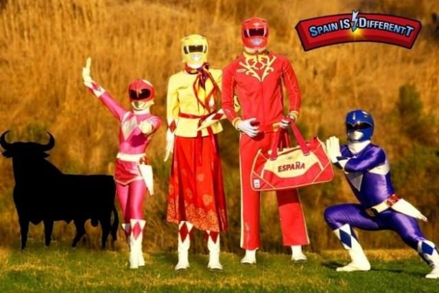 uniforme olimpico españa power rangers