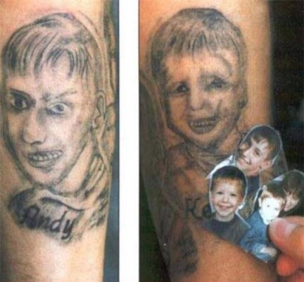 tatuaje fail niños