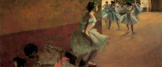 edgar degas bailarinas subiendo unas escaleras