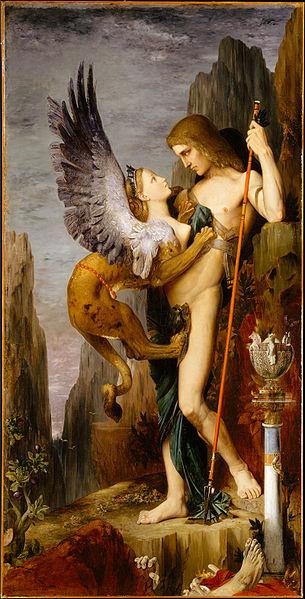 Gustave Moreau Edipo y la esfinge