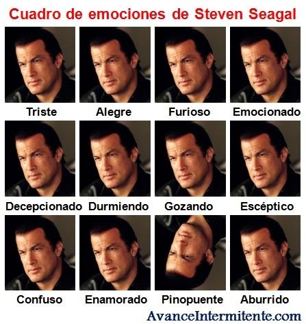 expresiones steven seagal emociones inexpresivo caras