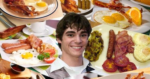 walter jr breakfast desayuno breaking bad