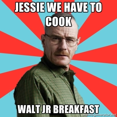walter jr breaking bad desayuno