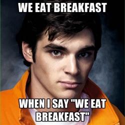 breaking bad breakfast desayuno walter jr