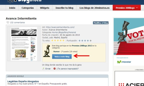 avance intemitente concurso 20blogs