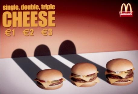 mcdonalds tontos anuncio hamburguesa 1 2 3 euros