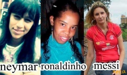 doble neymar ronaldinho messi