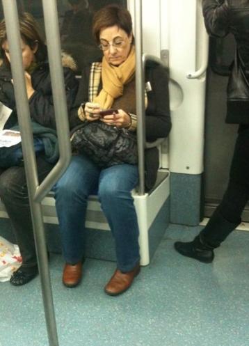 florentino perez doble mujer metro