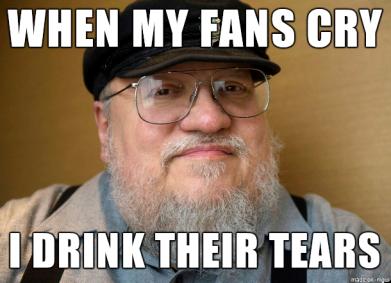 george rr martin lagrimas fans