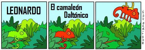 leonardo camaleón daltónico