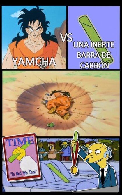 bola de dragón yamcha débil pelea muerte