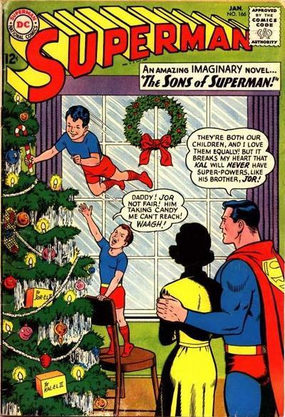 portada rara hijos superman