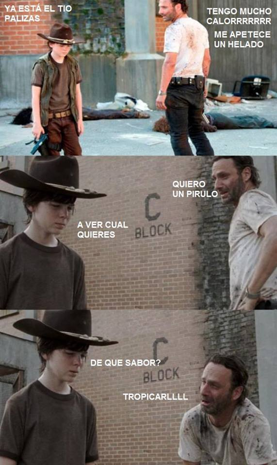 meme the walking dead