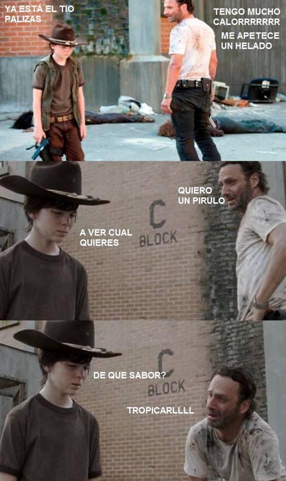 meme the walking dead