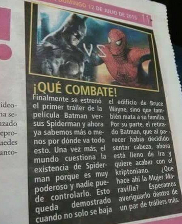 superman batman spiderman noticia mal